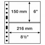 Лист GRANDE для почтовых марок  2 S (150 х 216 мм) (5 листов)