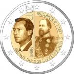 2 € юбилейная монета 2017 г. Люксембург - Великий князь Гийом III 200