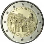 2 € юбилейная монета Монако   2017 г. -200-летие Роты княжеских карабинеров
