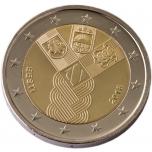 2 € юбилейная монета 2018 г. Эстония - 100 лет независимости Балтииских стран