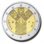 2 € юбилейная монета 2018 г. Литва 100. лет независимости Балтииских стран