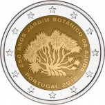 2 € юбилейная монета 2018 г. Португалия - 250-ти летие Ботанического сада Ажуда в Лиссабоне