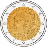2 € юбилейная монета  2018 г. Италия - 60-летие Министерства здравоохранения Италии