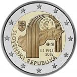 2 € юбилейная монета Словакия 2018 г. - 25 лет Словацкой республике