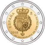 Spain 2€ commemorative coin 2018 - The 50th anniversary of King FELIPE VI