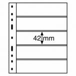 Plastic pocket Optima 5S for stamps (black)
