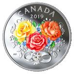 """""""Armastuse tähtpäev"""" - Kanada 3 $ 2019.a. värvitrükis 99.99% hõbemünt Swarovski® kristalliga  7.96 g"""