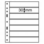 Optima margi leht 7 vahega  (42 x 180 mm), must 1 tk.