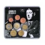 Годовой набор Евро монет Франции 2020 года - комплект