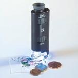 Zoom-mikroskooppi 60-100 x LED-valolla