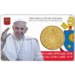 Vatikani 2018.a.  50 sendine mündikaardil