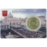 Vatikani  50 sendine mündikaardil 2015.a.