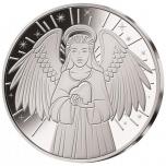 «Ангел хранитель» - Самоа 1/2$ 2018 г.  Медно-никелевая монета с серебряным покрытием.