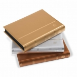 Stockbook COMFORT, Din A4, 64 black pages, padded cover Metallic Gold
