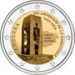 2 € юбилейная монета 2018 г.  Андорра  - Андорра конституция