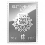 Hõbedast postmark EV 100