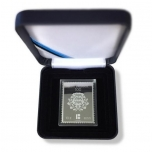 Hõbedast postmark Eesti Vabariik 100 kinkekarbis