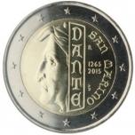 2 € юбилейная монета 2015  г.Сан -Марино - 750 лет со дня рождения Данте Алигьери