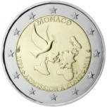 2 € юбилейная монета Монако - 20 лет вступления в ООН