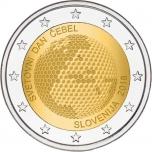2 € юбилейная монета  2018 г. Словения  -Всемирный день пчелы