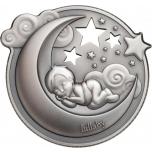 Колыбельная песня - Острова Кука 20$ 2018 г. 99,9% серебряная монета с антик обработкой с музыкальнаой шкатулкой, 31,1 г.