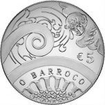 Europa 2018.a. Portugali 92,5% hõbemünt 17 g  - Baroki ja Rokokoo ajastu
