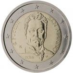 San Marino 2€ commemorative coin 2014 - 90th anniversary of the death of Giacomo Puccini