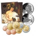 Годовой набор Евро монет  Сан - Марино 2010 года - комплект