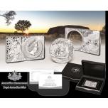"""«Кенгуру Австралии"""" - монете 25 лет» -   99.9% серебряная монета в слитке,  Австралия 2018 г."""