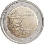 2 € юбилейная монета 2016 г. Сан -Марино- 550 лет со дня смерти Донателло
