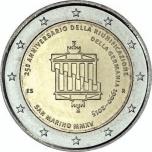 San Marino 2015 2 eur juubelimünt -Saksamaa taasühendamise 25. aastapäev