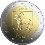 2 € юбилейная монета Латвия   2018 г. -Историческая область  Земгале