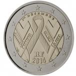 Prantsusmaa 2014. a 2 € juubelimünt -aidsi vastu võitlemine ülemaailmse aidsipäeva abil