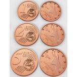 Андорра-Eвро 1, 2,5 ceнты  - комплект