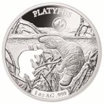 «Формы Австралии -Утконос»,  Соломоновы Острова 5$ 2019 г. 99,9% серебряная монета с безупречным разрезом, 31.1 г.
