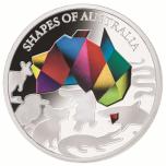«Формы Австралии,  Соломоновы Острова 5$ 2019 г. 99,9% серебряная монета с селективным окрашиванием и логотипом  коллекции, 31.1 г.
