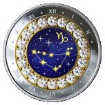 Знаки зодиака -Козерог -  Канада 5$ 2019 г. 99,99% серебряная монета с кристаллами Swarovski® 7.96 гp.