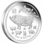 Год Кабана 2019  - Австралия 1 $ 99,99% серебряная монета, 31.107 г.