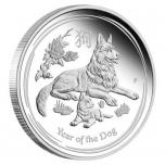 Год Собаки  - Австралия 1/2$  2018 г. 99,99% серебряная монета, 15,553  г.