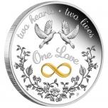 Üks armastus - Austraalia 1 $ 2020-a-  1-untsine  99,99% hõbemünt