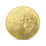 Самолет Трансалл История Авиации  - Франция 50 € 2018 г. 99,99% золотая монета, 1/4 унции