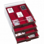Coin box XL with 6 compartments 86 x 86 mm