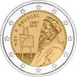 Belgia 2019.a. 2€ juubelimünt - Pieter Bruegel vanema 450. surma-aastapäev