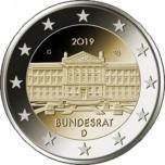 2 € юбилейная монета 2019 г. Германия - Бундесрат