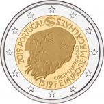2 € юбилейная монета 2018 г. Португалия - 500-летие кругосветного плавания Магеллана