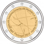 Portugal 2€ commemorative coin 2019 - 600 years of the discovery of the Madeira Archipelago, by the Portuguese navigators Bartolomeu Perestrelo and Tristão Vaz