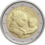2 € юбилейная монета 2019  г.Сан -Марино - 550 лет со дня смерти Филиппо Липпи