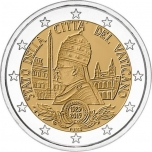 Vatican 2€ commemorative coin 2019 - 90th anniversary of the foundation of the Vatican City State