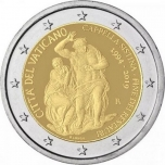 Vatican 2€ commemorative coin 2019 - Sistine Chapel — End of the restoration 1994-2019