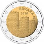 2 € юбилейная монета 2019 г. Испания -«Памятники культурного и природного Всемирного наследия ЮНЕСКО»: Старый город Авила